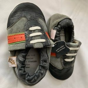 Tickle Toes Baby's Stripe Leather Shoes Sz 12-18m